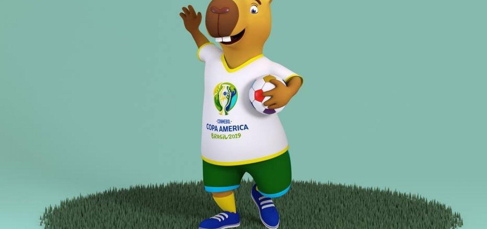 [Copa América terá capivara como mascote; público vai escolher o nome]