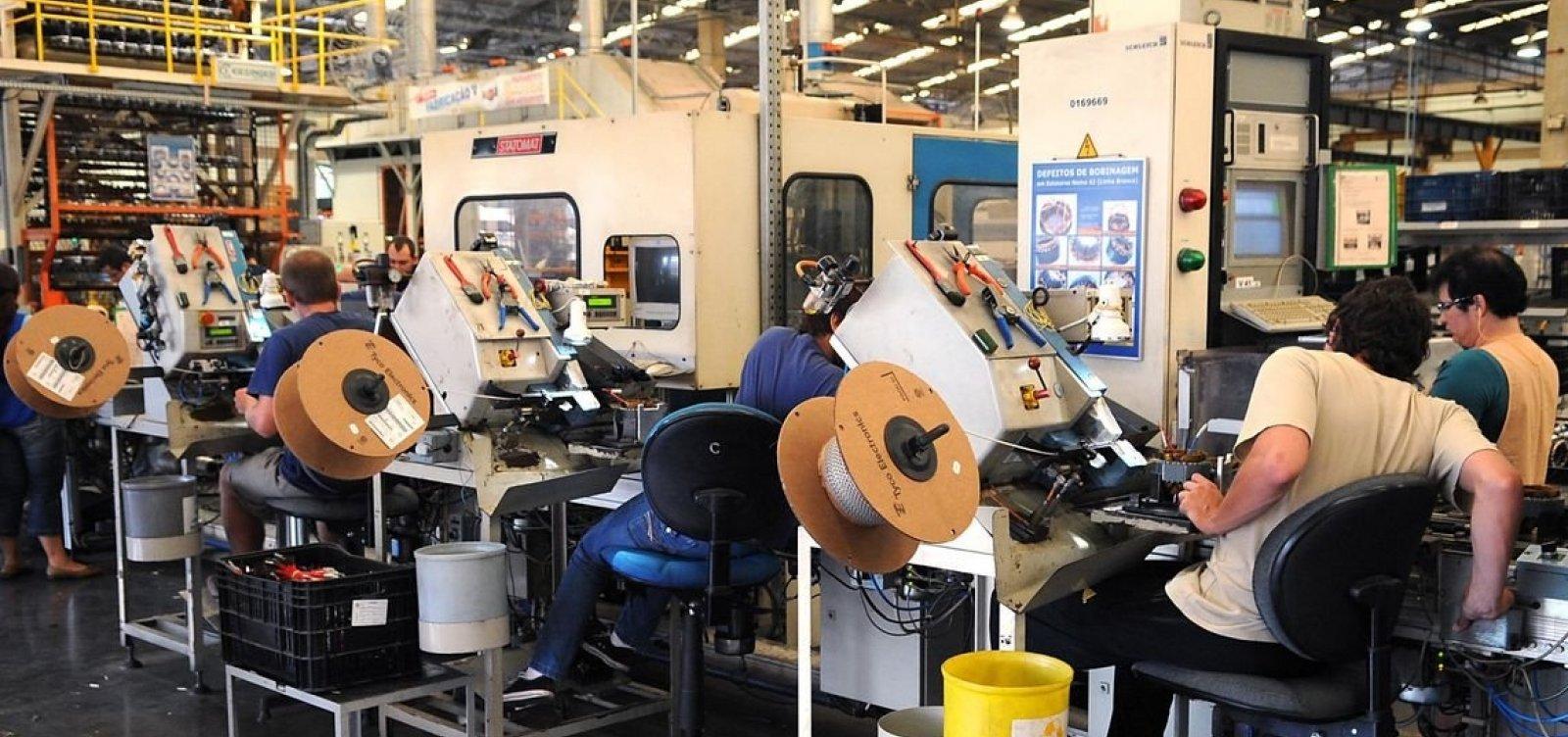 [Produção industrial baiana cresce em fevereiro, segundo IBGE]