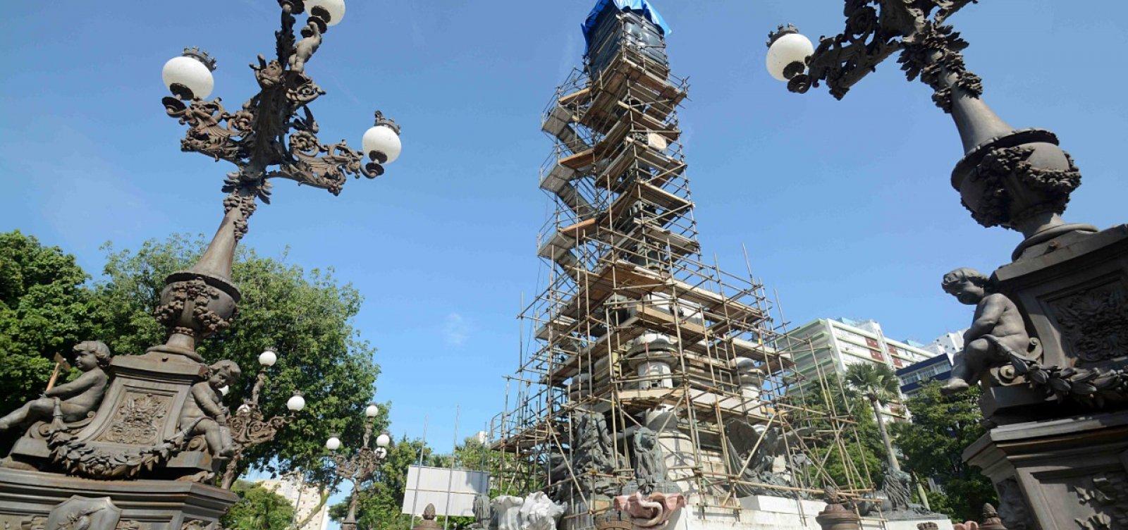[Monumento ao Dois de Julho passa por restauração após 16 anos]