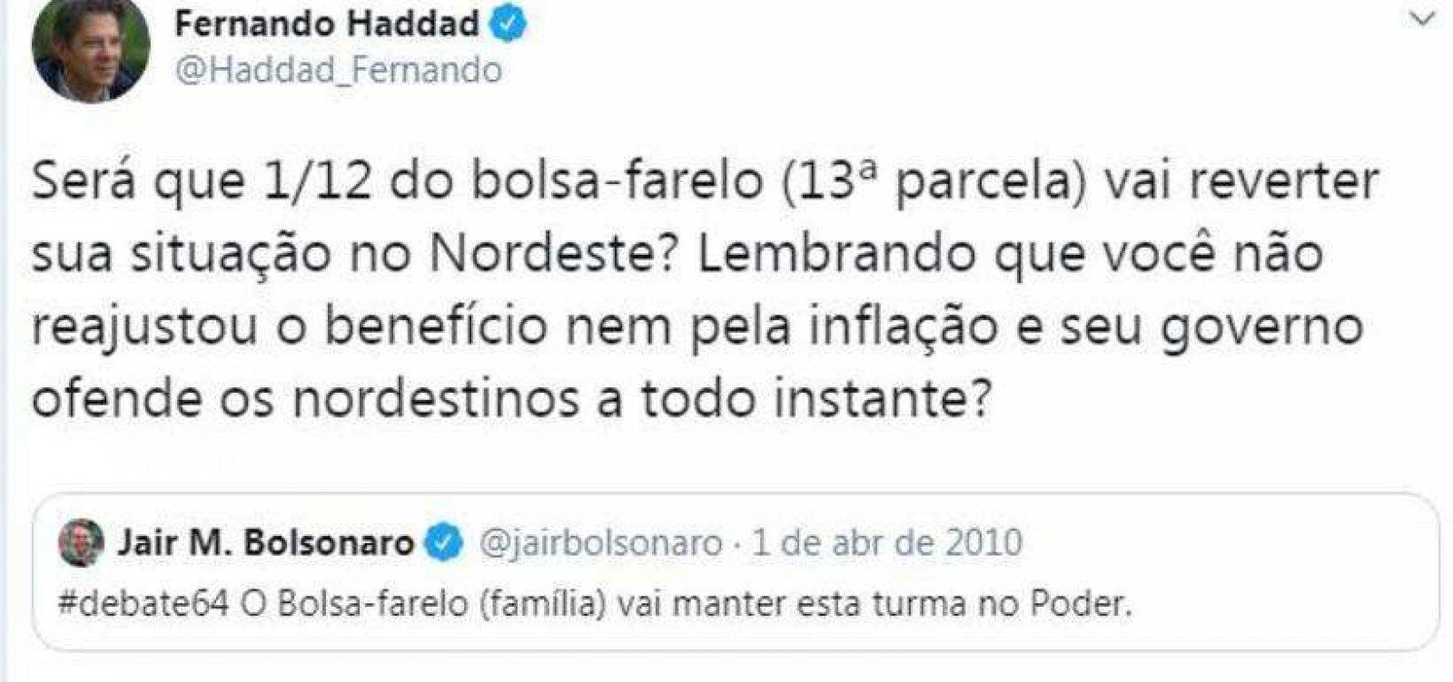 [Carlos Bolsonaro e Haddad se alfinetam no Twitter]