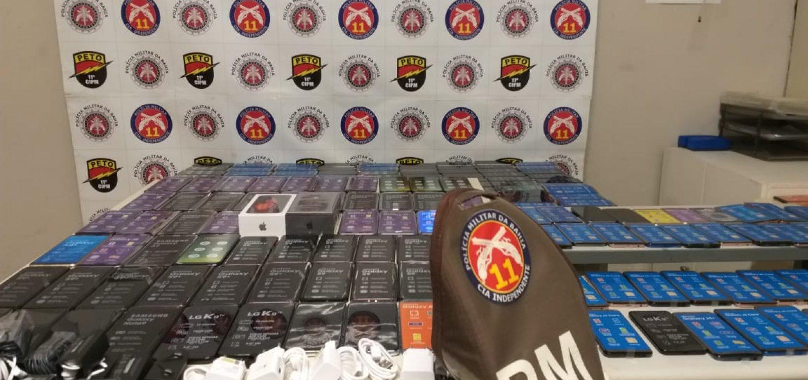 [Polícia Militar apreende 257 celulares furtados na Barra]