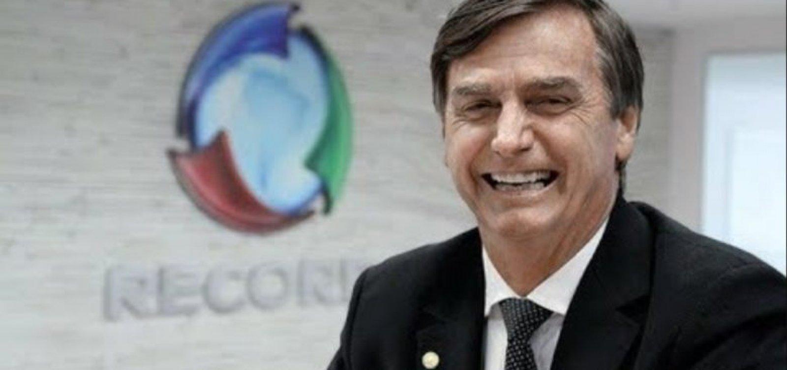 [Bolsonaro gasta 63% a mais com publicidade; Record supera Globo]