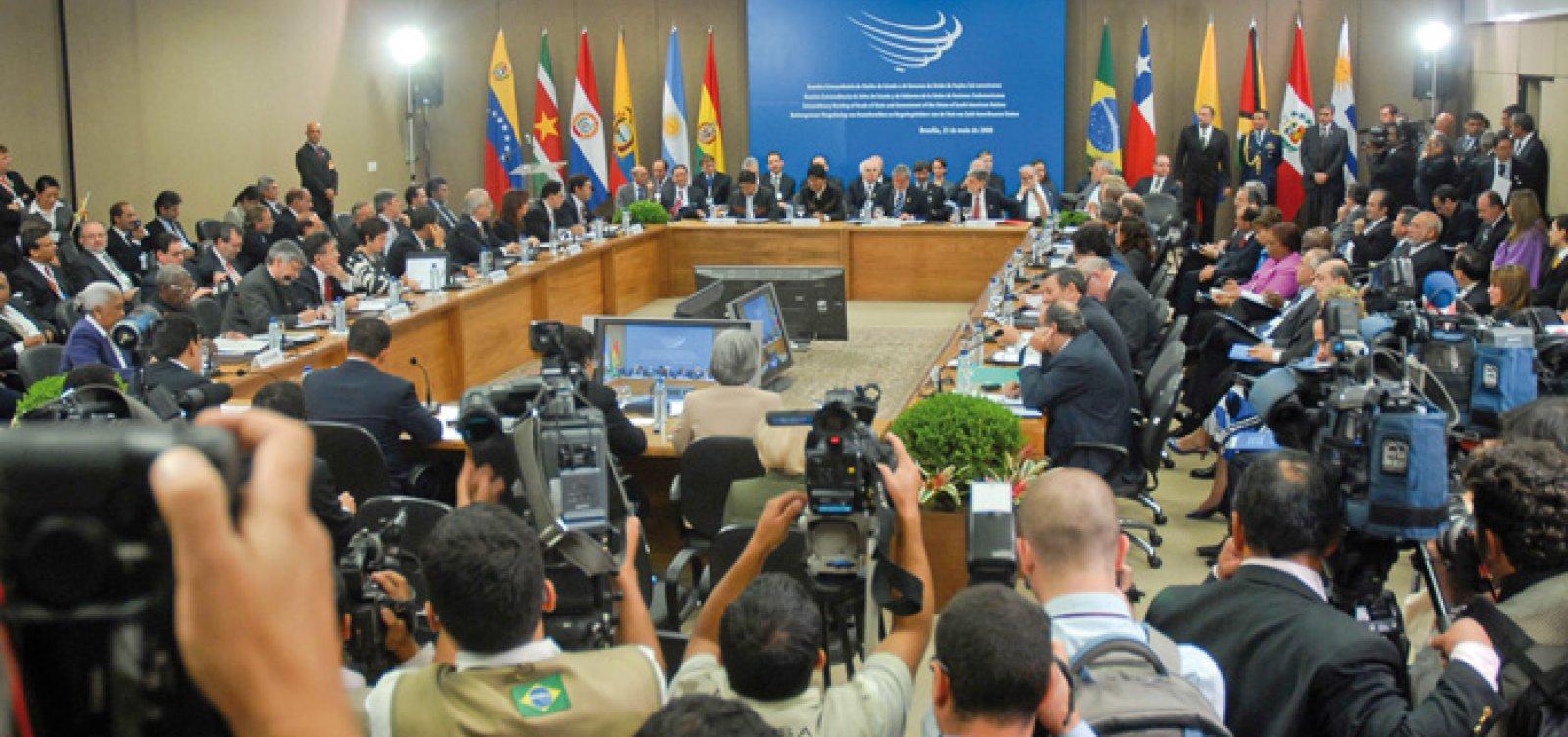 [Saída do Brasil da Unasul é formalizada pelo Itamaraty]