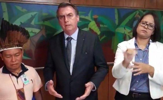 [Bolsonaro promete cortar diretoria da Funai se órgão não acatar vontade do povo indígena ]