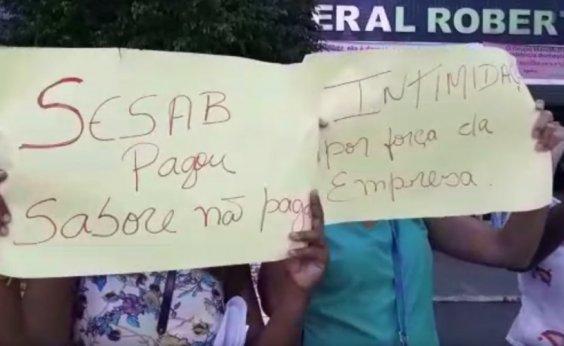 [Sabore: funcionários de empresa protestam contra salários atrasados]