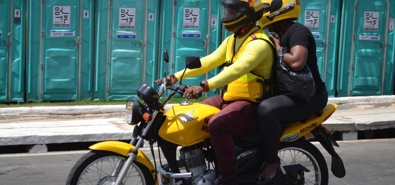 [Credenciamento de mototaxistas recomeça hoje com mais de 1,7 mil novas vagas]