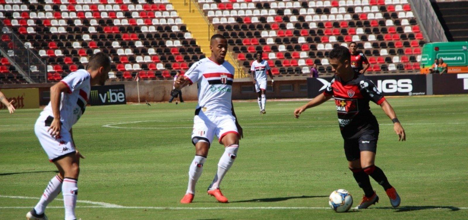 [Com gol contra, Vitória perde para o Botafogo-SP de virada na Série B]