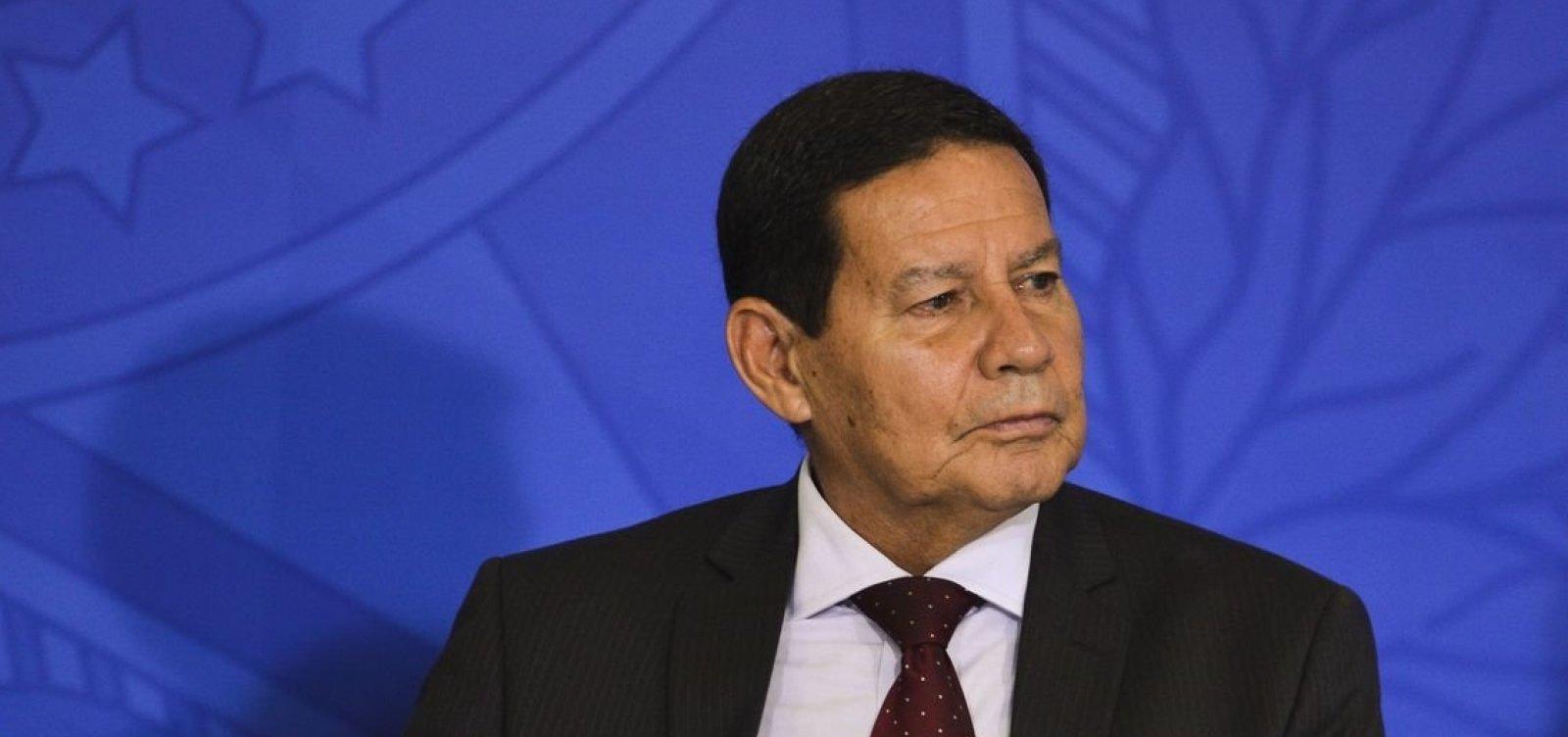 [Mourão descarta possibilidade de intervenção militar do Brasil na Venezuela]