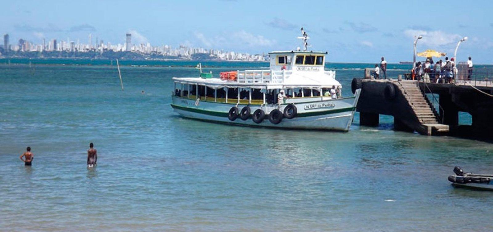 [Travessia de Salvador para Mar Grande será encerrada mais cedo nesta quarta em função da maré baixa]