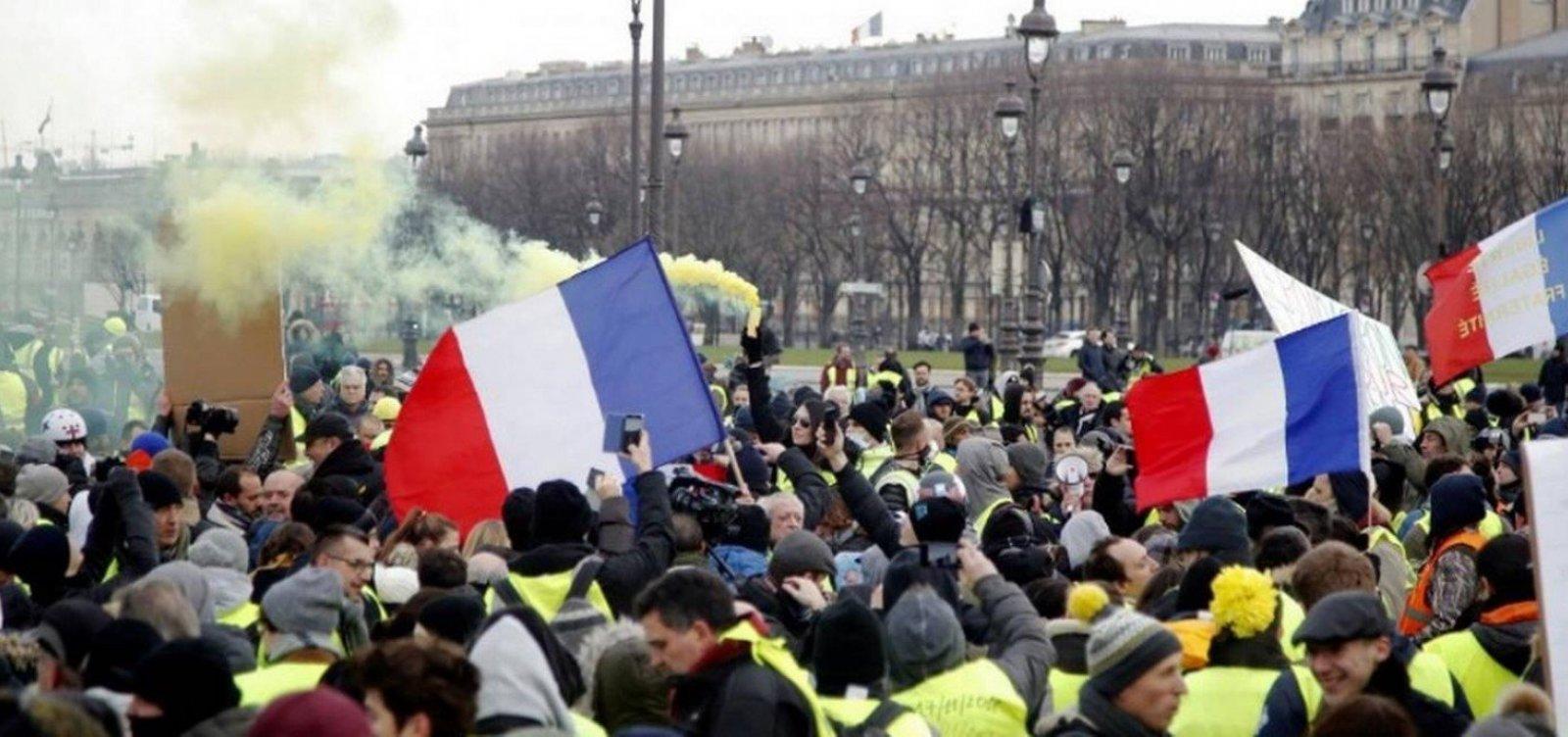 [Protestos dos 'coletes amarelos' registram menor número desde o início do movimento]