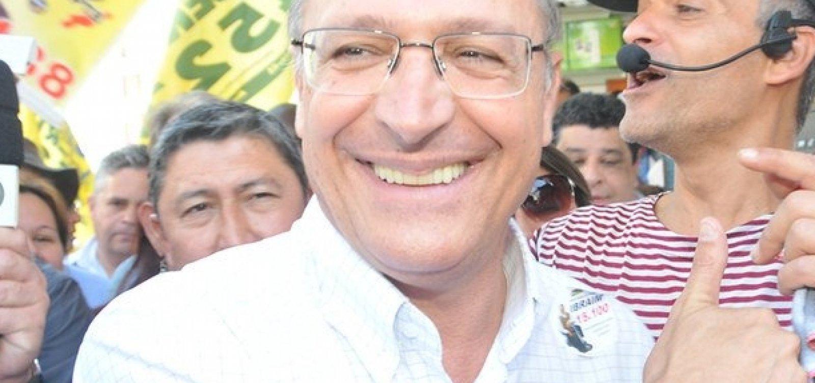 ['Vemos no Brasil um clima de ódio', diz Alckmin]