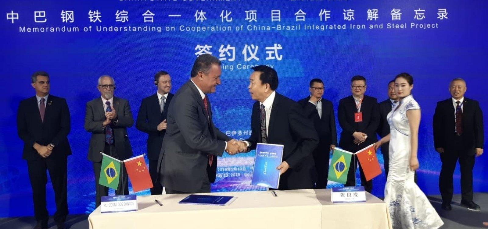[Rui assina memorando com empresa chinesa para investimento de R$ 7 bilhões na Bahia]