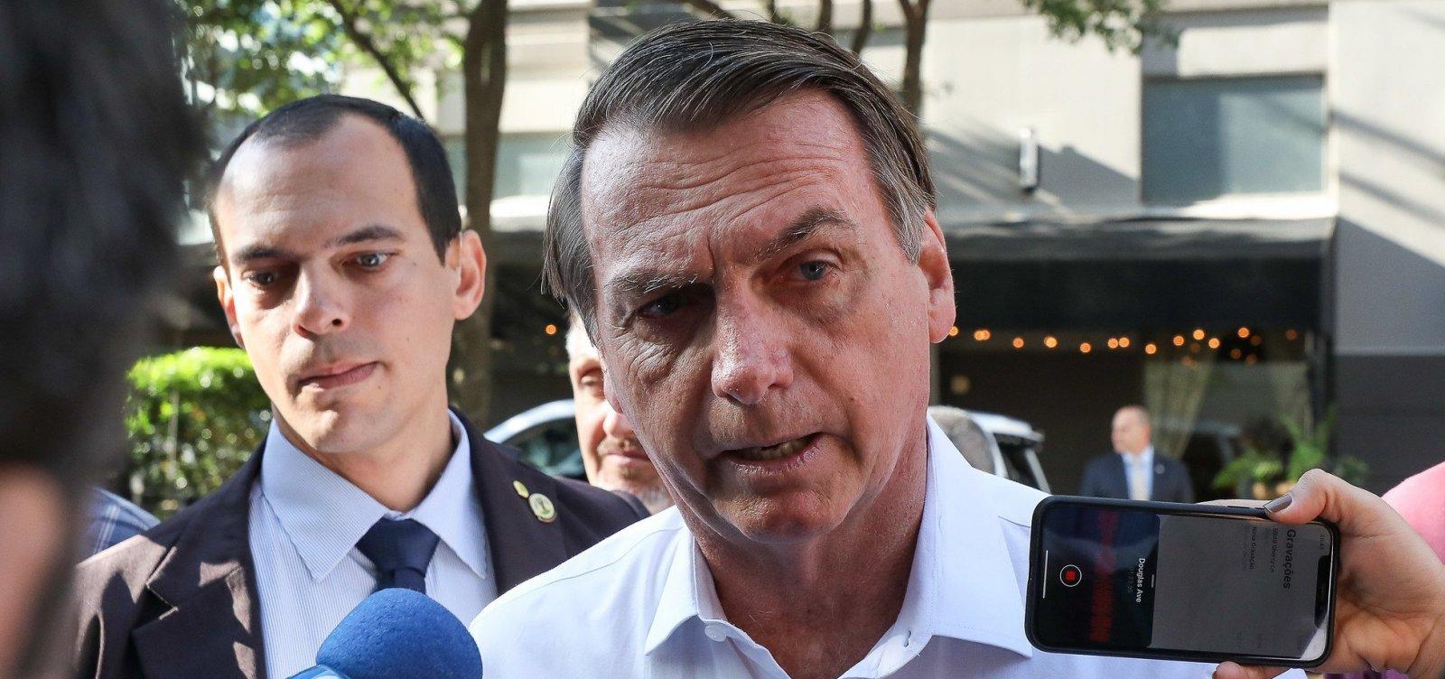 [Bolsonaro critica investigação sobre filho: 'Venham pra cima, não vão me pegar']