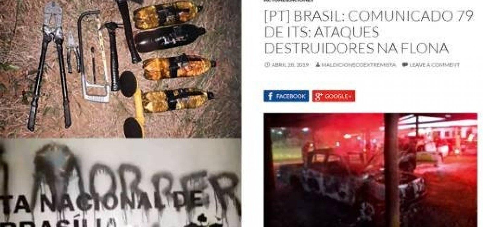 [PF busca grupo que ameaça Bolsonaro e ministro do Meio Ambiente]