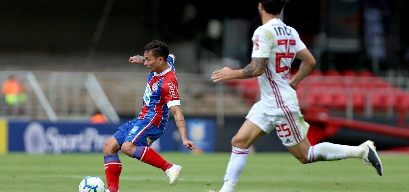 [Bahia e São Paulo empatam sem gols pela Série A]