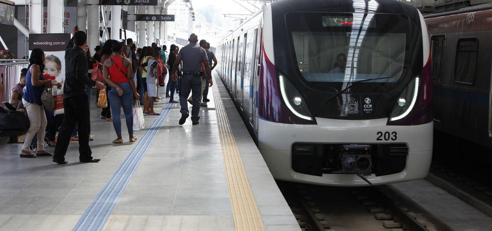 [Linha 1 do metrô de Salvador opera com velocidade reduzida]