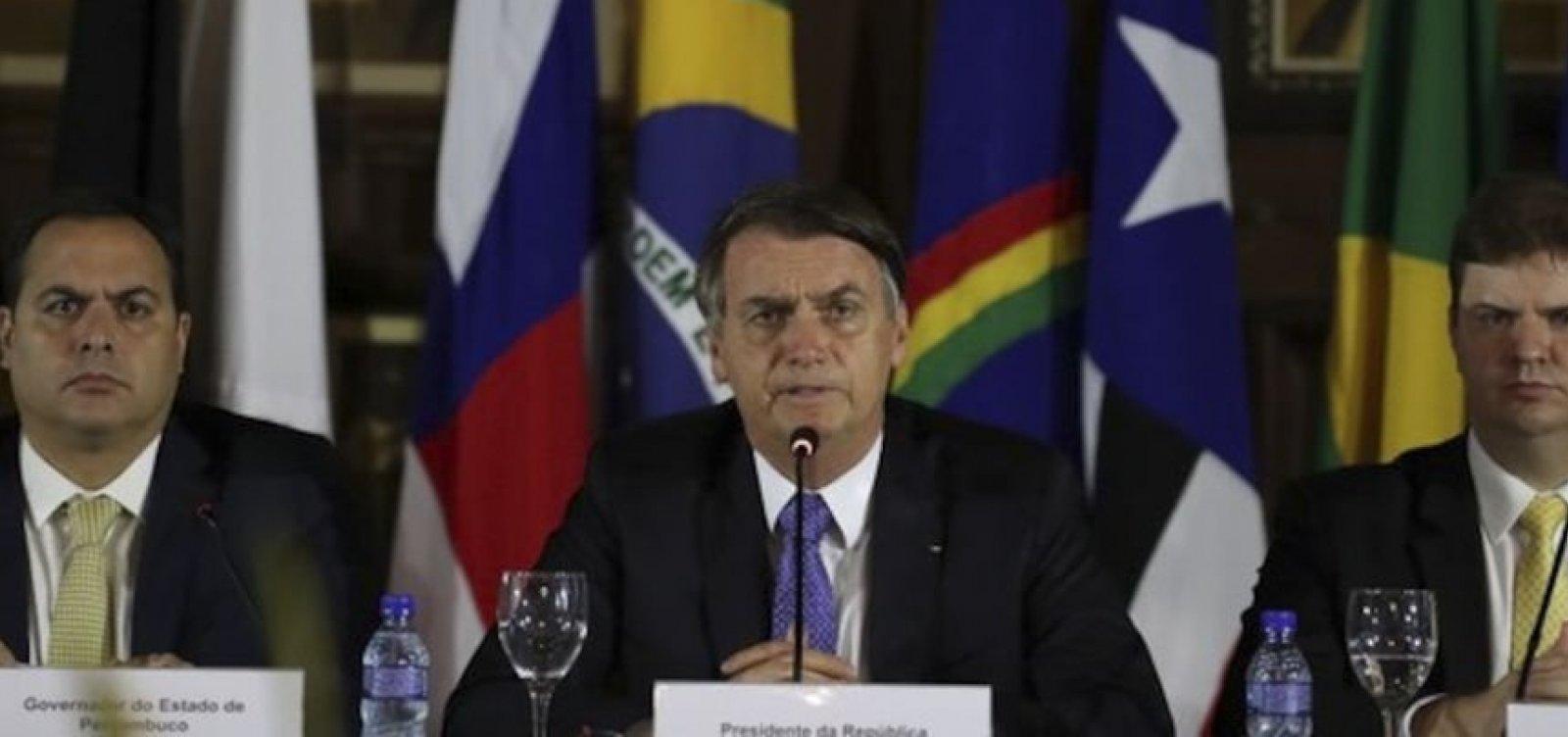 [Bolsonaro é alvo de críticas de governadores nordestinos]