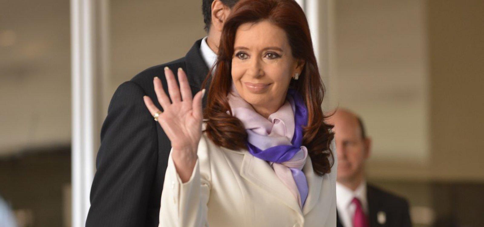 [Cristina Kirchner comparece a tribunal para segundo dia de julgamento]