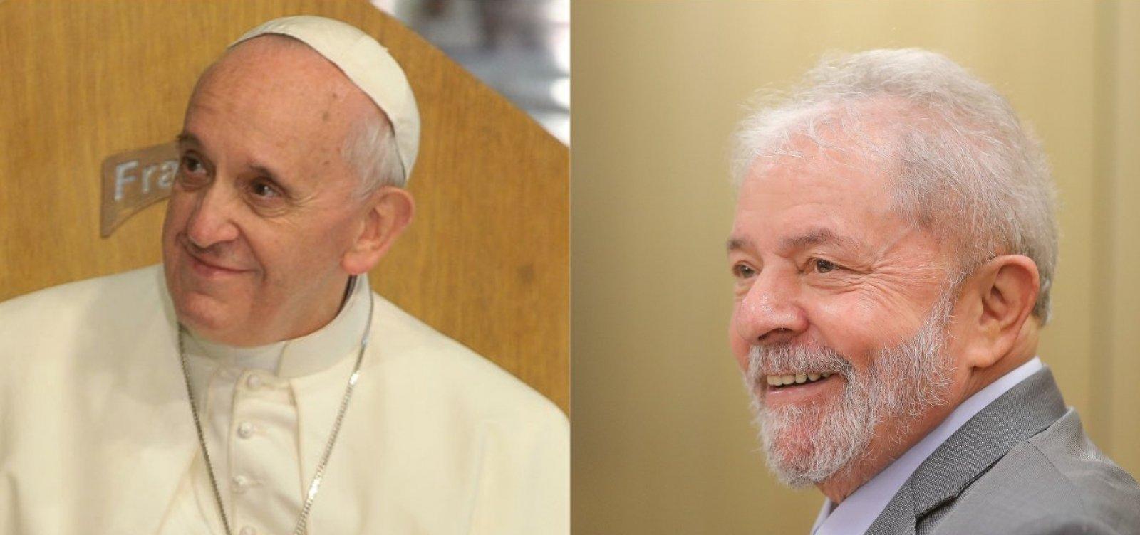 [Em carta a Lula, Papa Francisco pede que ex-presidente 'não desanime'; leia]