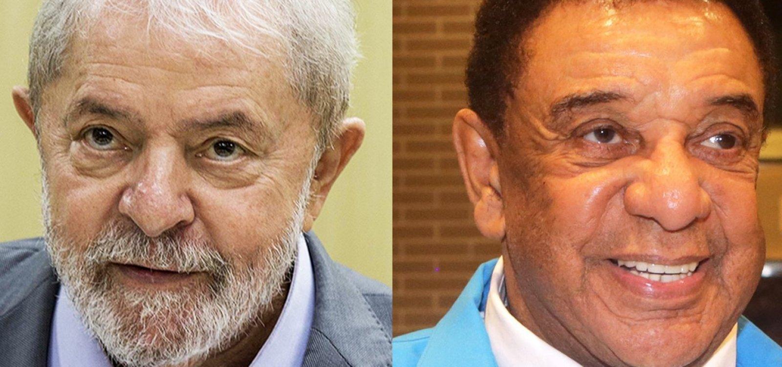 [Lula manda bilhete para Agnaldo Timóteo: 'Torcendo pela sua recuperação']