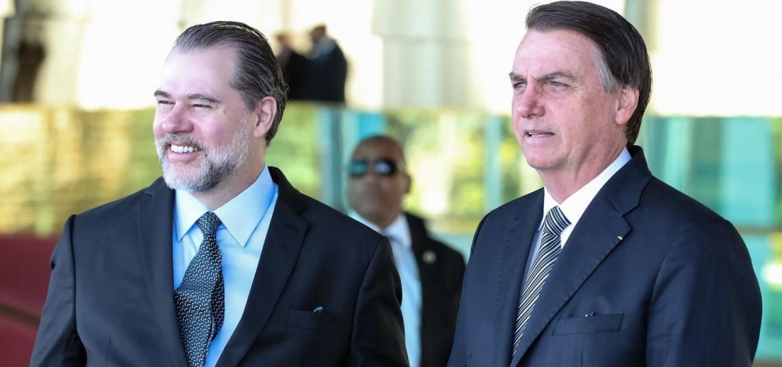 ['É muito bom termos a Justiça ao nosso lado', diz Bolsonaro em elogio a Toffoli]