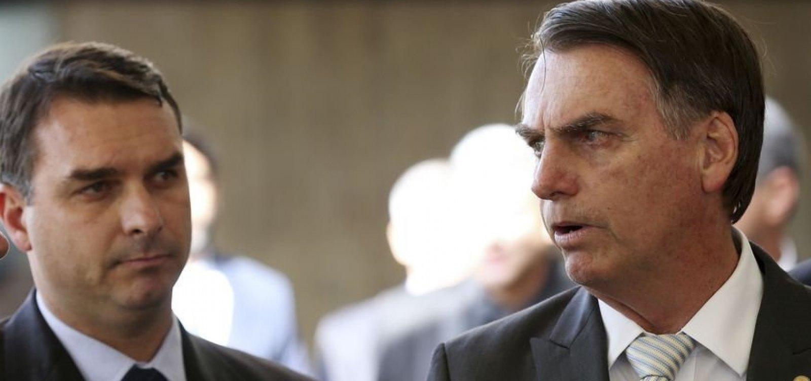 [Bolsonaro se reúne com corregedor de Justiça e não explica presença de filho investigado]