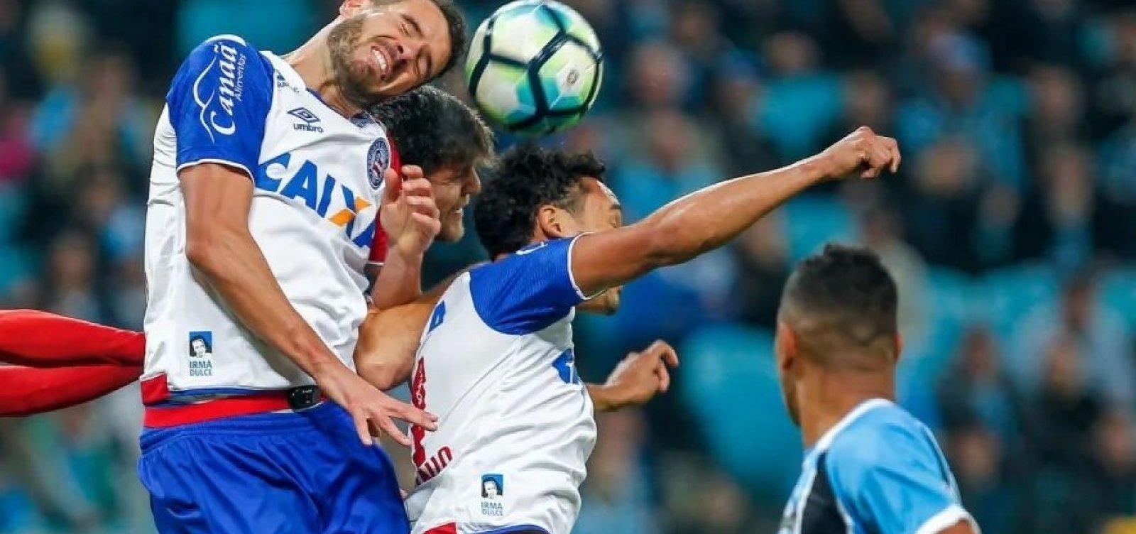 [Bahia enfrenta o Grêmio hoje a noite, em Pituaçu]