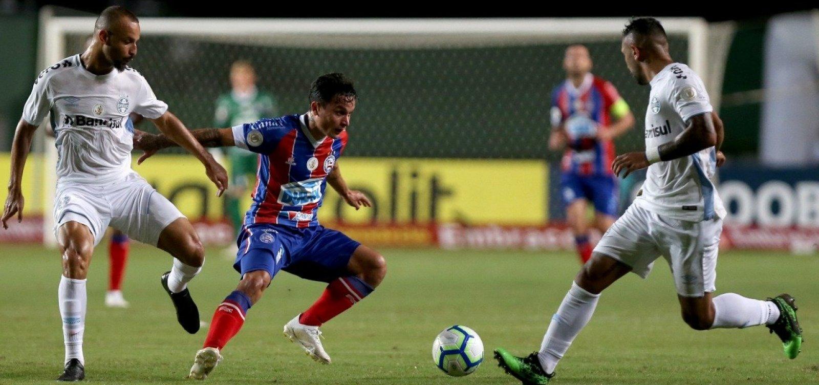 [Bahia vence Grêmio em Pituaçu e entra no G4]