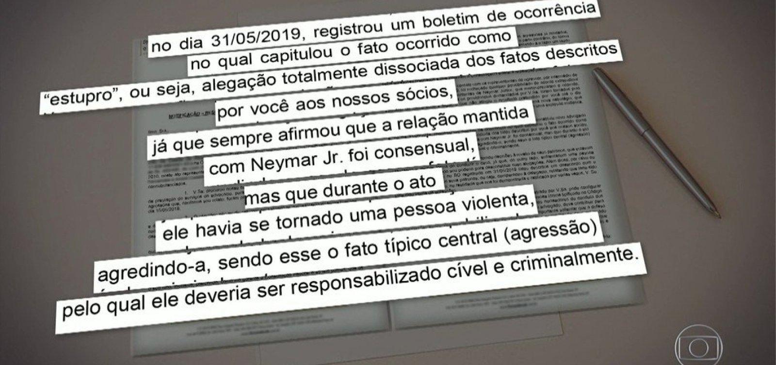 [Ex-advogado de mulher que acusa Neymar diz que ela não relatou estupro, mas agressão]