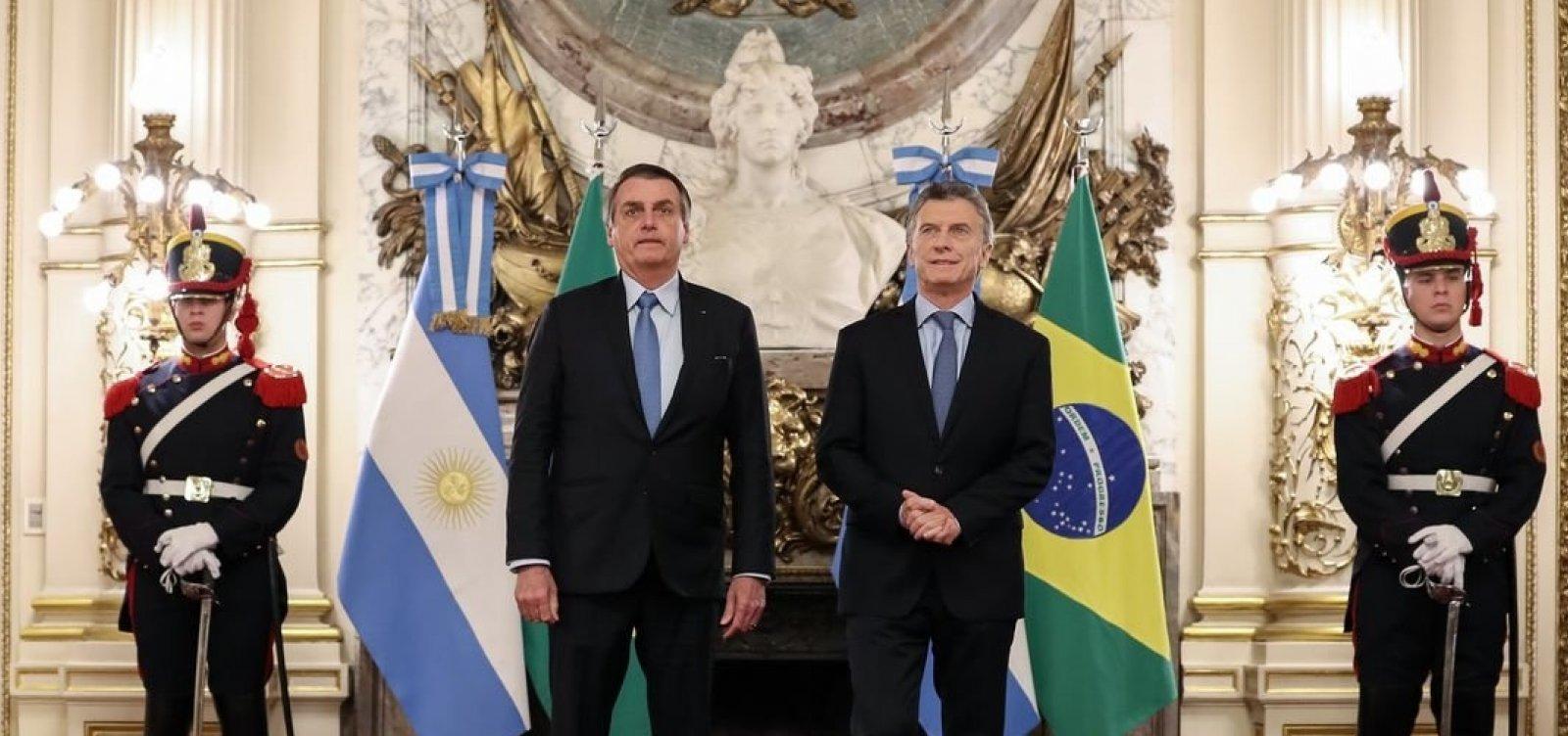 [Buenos Aires: Bolsonaro diz temer 'novas Venezuelas']