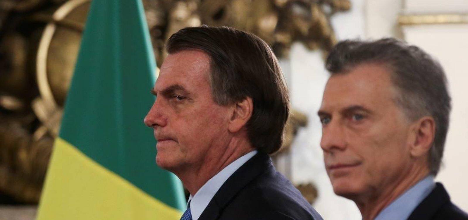 [Bolsonaro e Guedes debatem criação de moeda comum com Argentina]