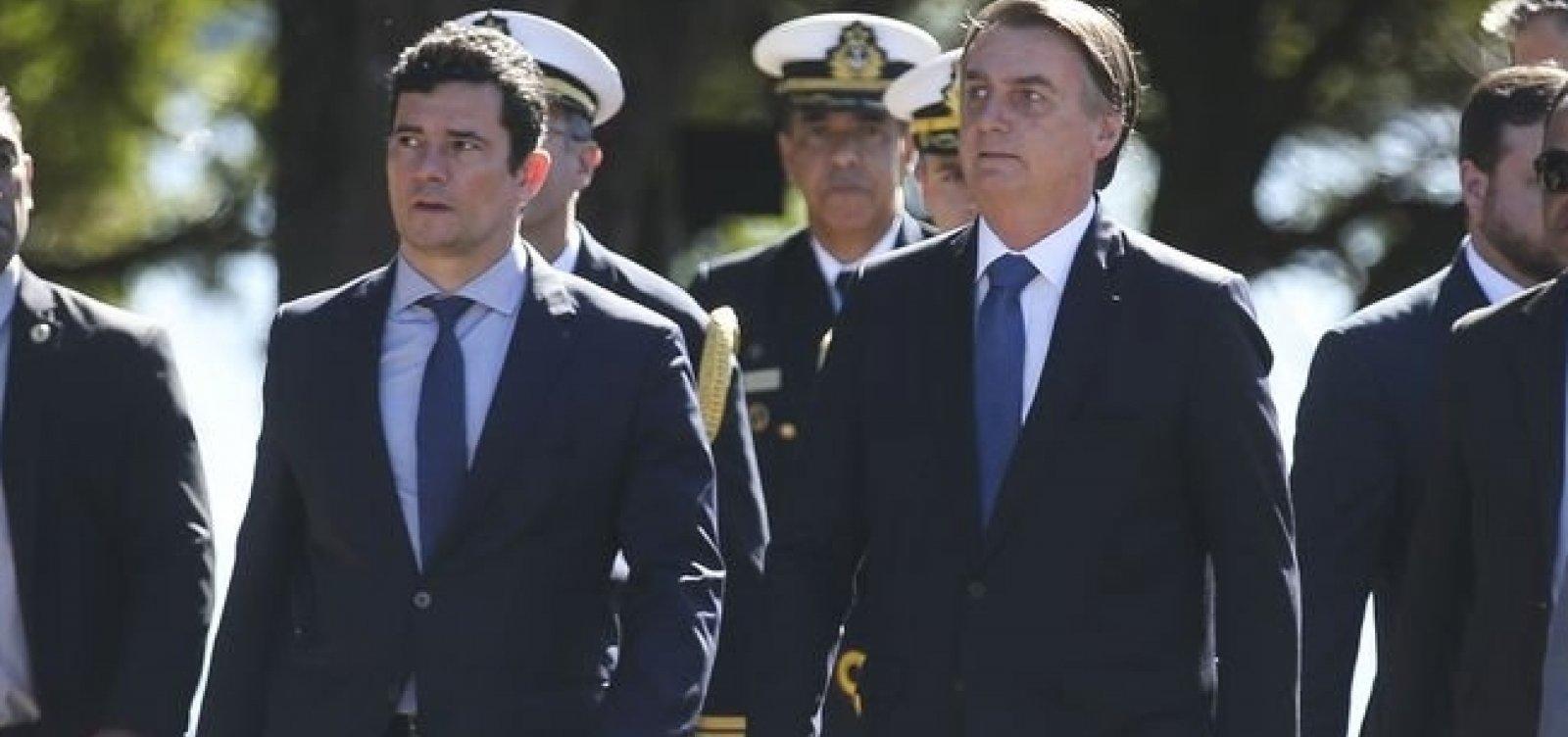 [Moro se encontra novamente com Bolsonaro após mensagens vazadas]