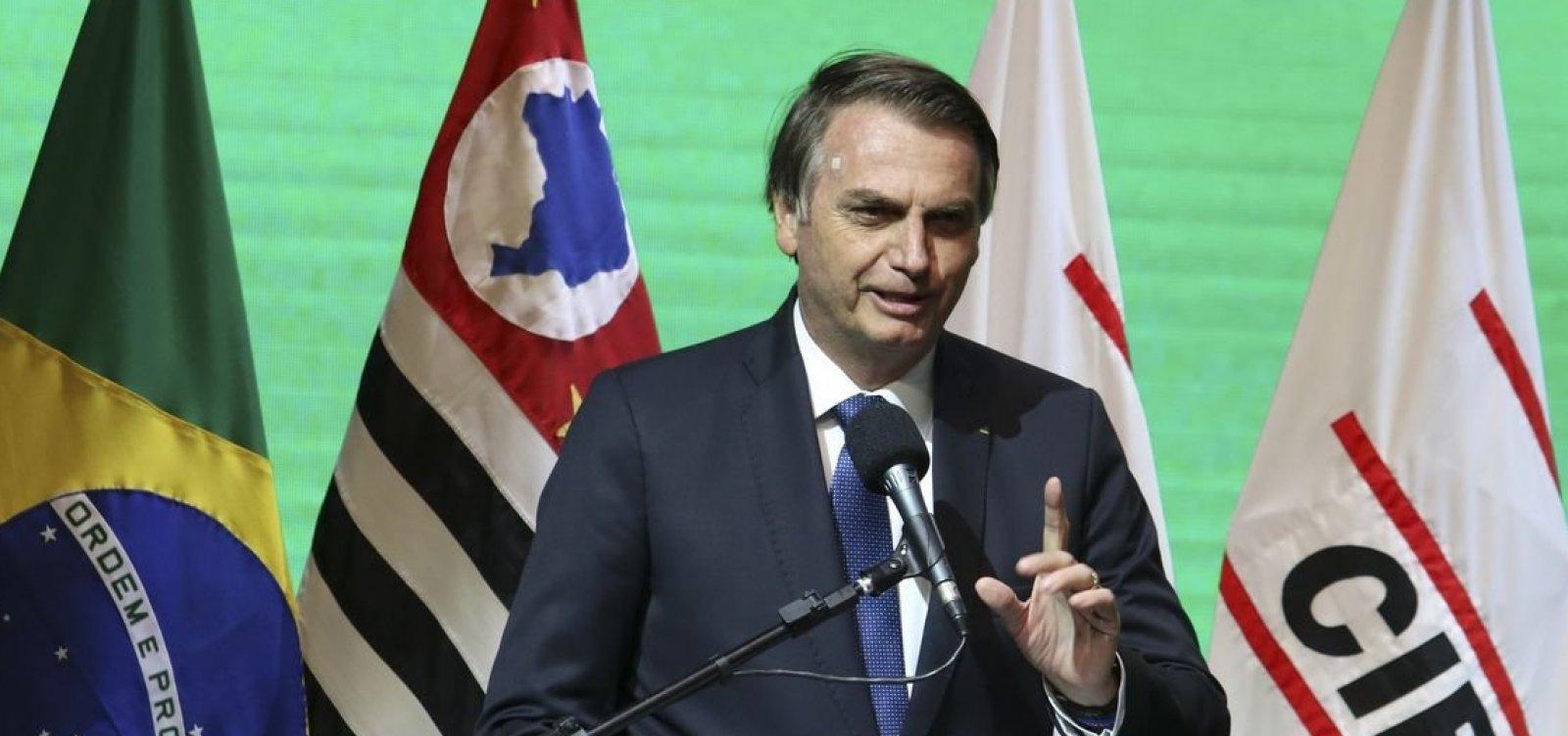 ['É uma tendência do Parlamento tirar estados e municípios', diz Bolsonaro]