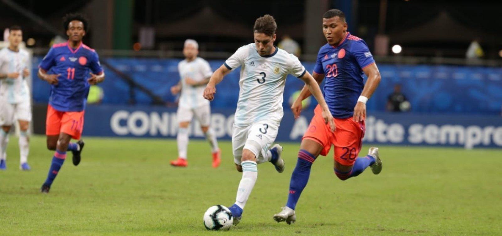 [Copa América: Colômbia vence Argentina por 2 a 0 na Arena Fonte Nova]