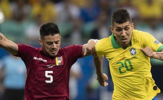 [VAR anula dois gols e Brasil empata com a Venezuela na Fonte Nova]