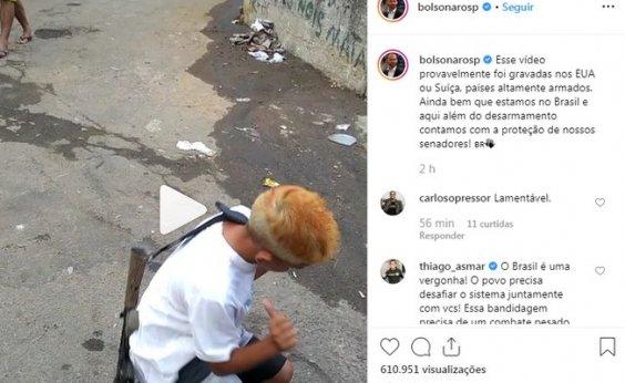 [Eduardo Bolsonaro publica vídeo no Instagram que infringe Estatuto da Criança]