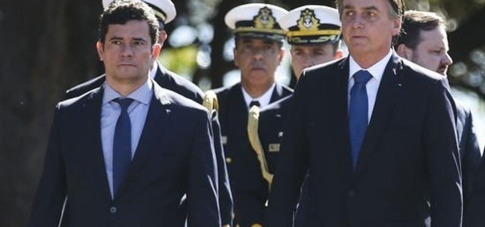 ['Nota 10', diz Bolsonaro sobre explicações de Moro no Senado]
