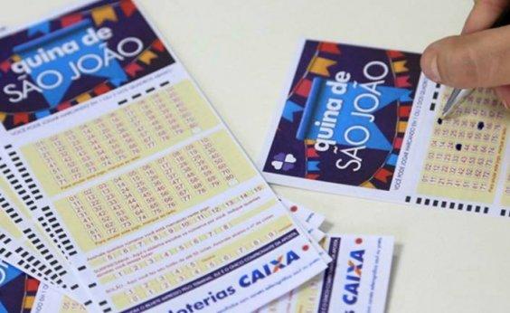 [Ninguém acerta Quina de São João; mais de 1,5 mil bilhetes levarão R$ 97 mil]
