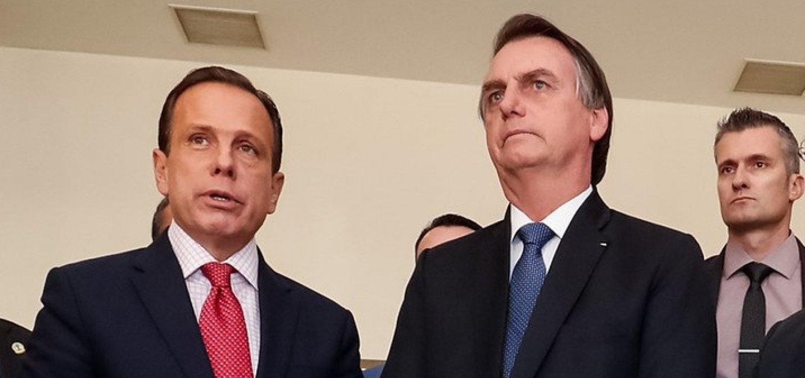 [Bolsonaro alfineta Doria sobre eleição presidencial de 2022]