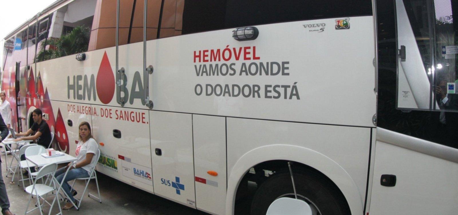 [Hemóveis realizam coleta de sangue em Salvador e Feira até sexta; veja locais]