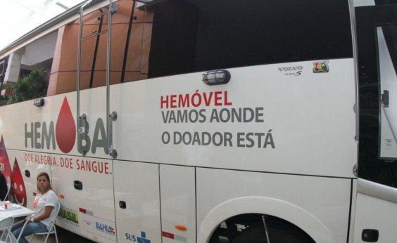 [Unidades móveis do Hemoba atendem em Salvador e Feira de Santana nesta semana]