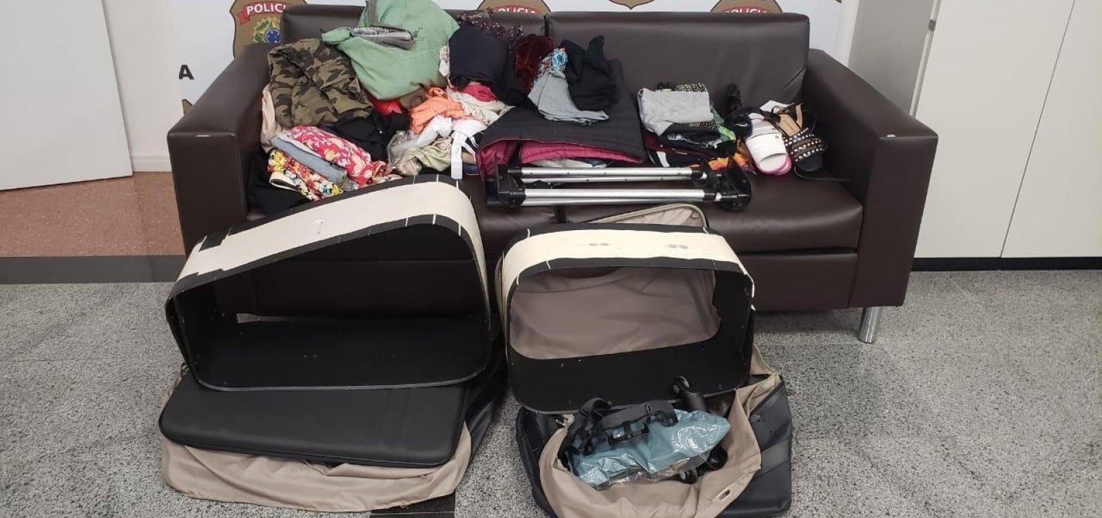 [Casal é preso em flagrante com cocaína escondida em malas no aeroporto de Salvador]