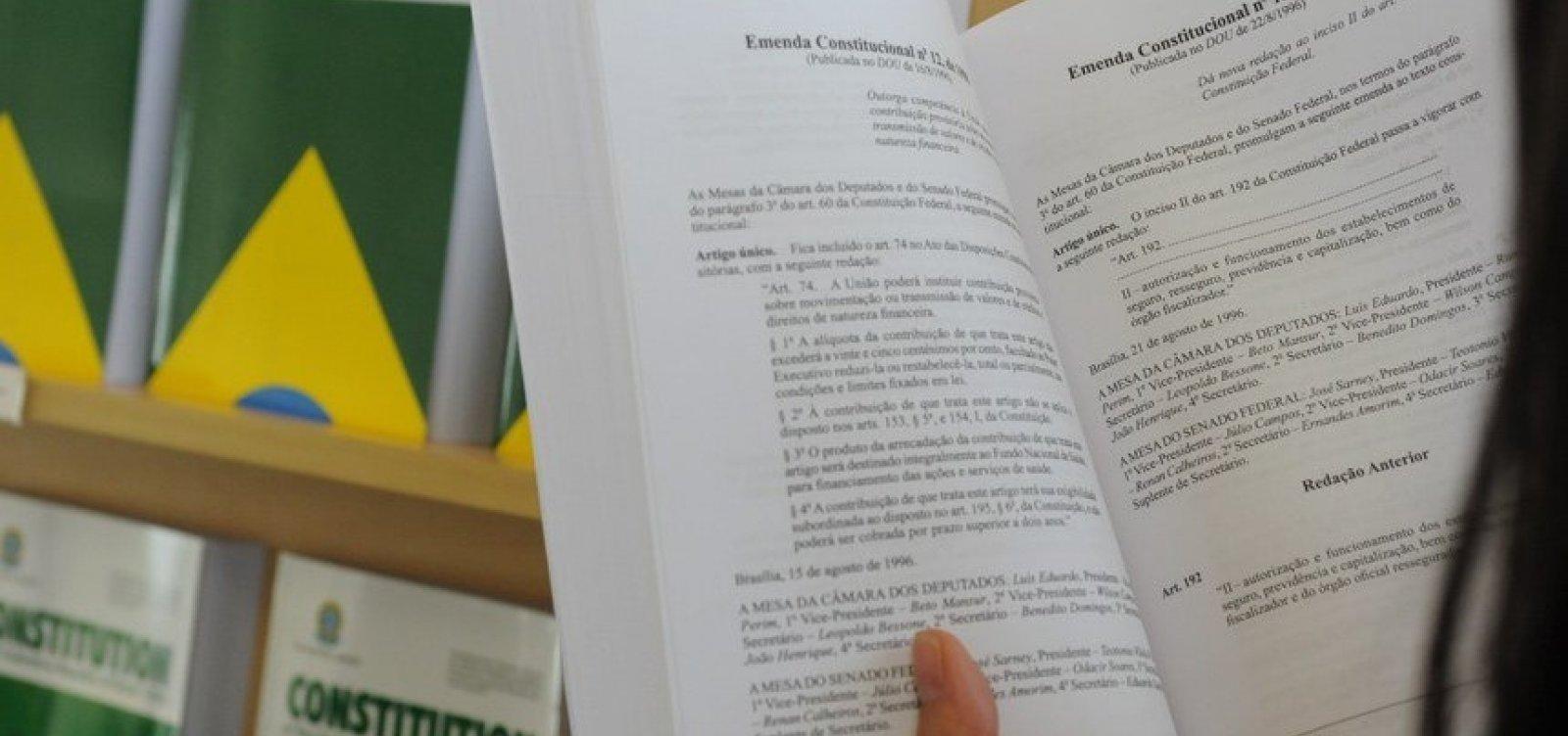 [Aos 30 anos, Constituição Federal chega à 100ª emenda]