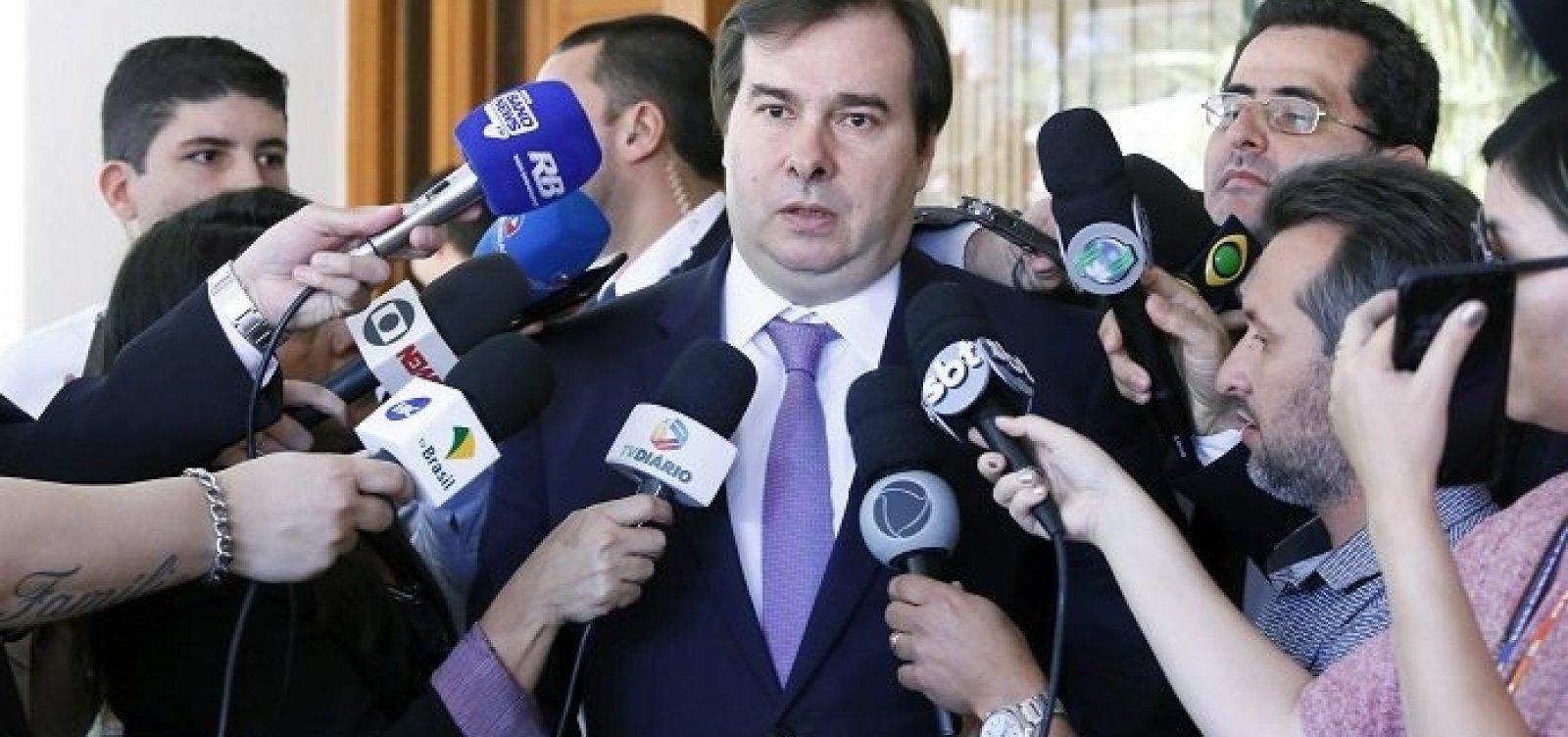 [Maia afirma que aprovação da reforma da Previdência depende de negociação coletiva]