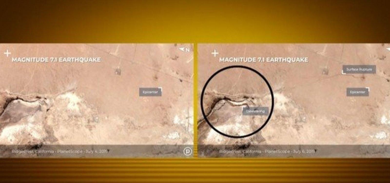 [Rachadura provocada por terremoto na Califórnia pode ser vista do espaço]