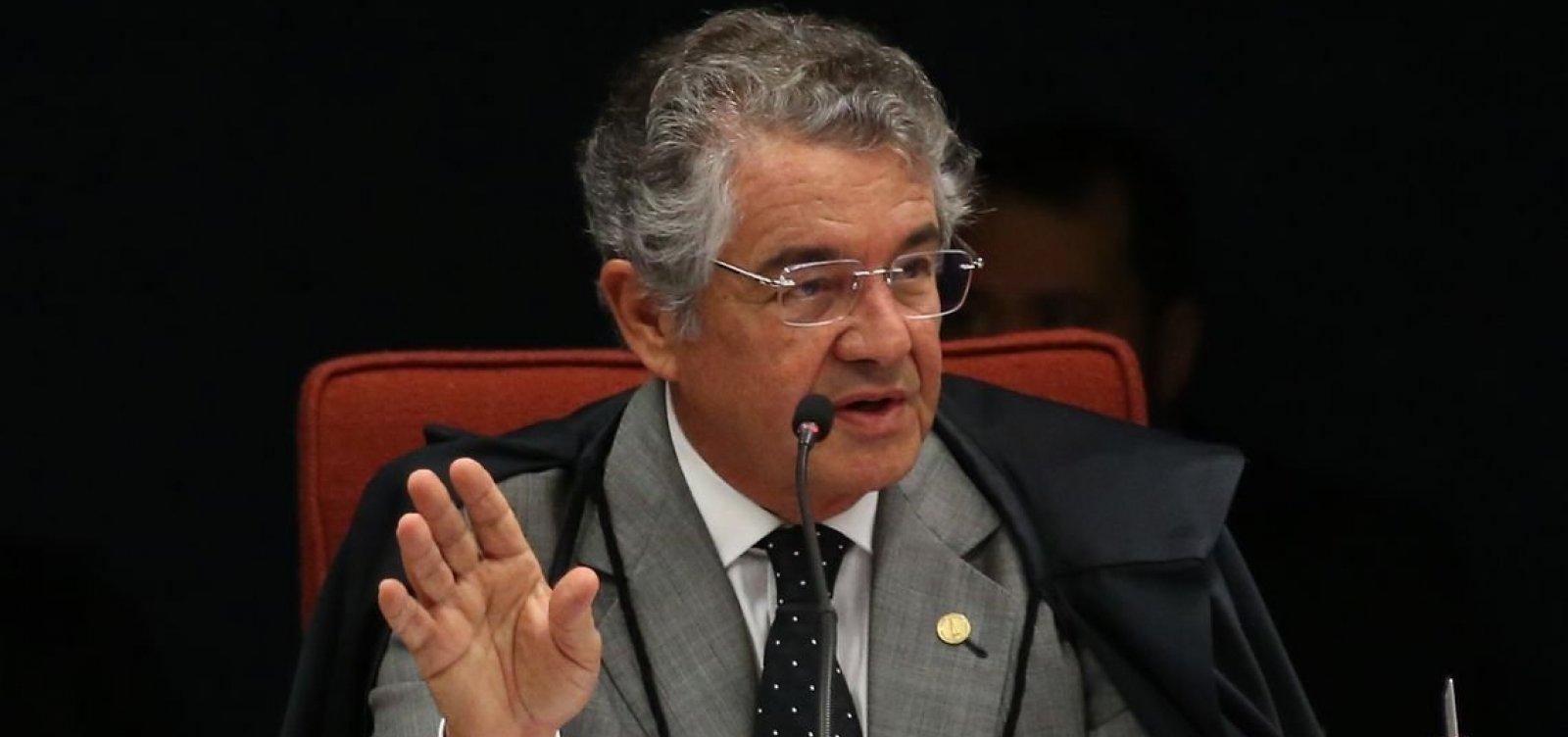 [ Marco Aurélio diz que indicação de filho de Bolsonaro a embaixada é nepotismo e 'tiro no pé']