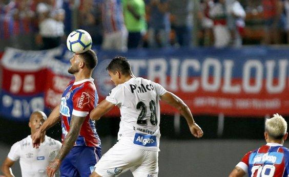 [Em Pituaçu, Bahia perde de 1 a 0 para o Santos]