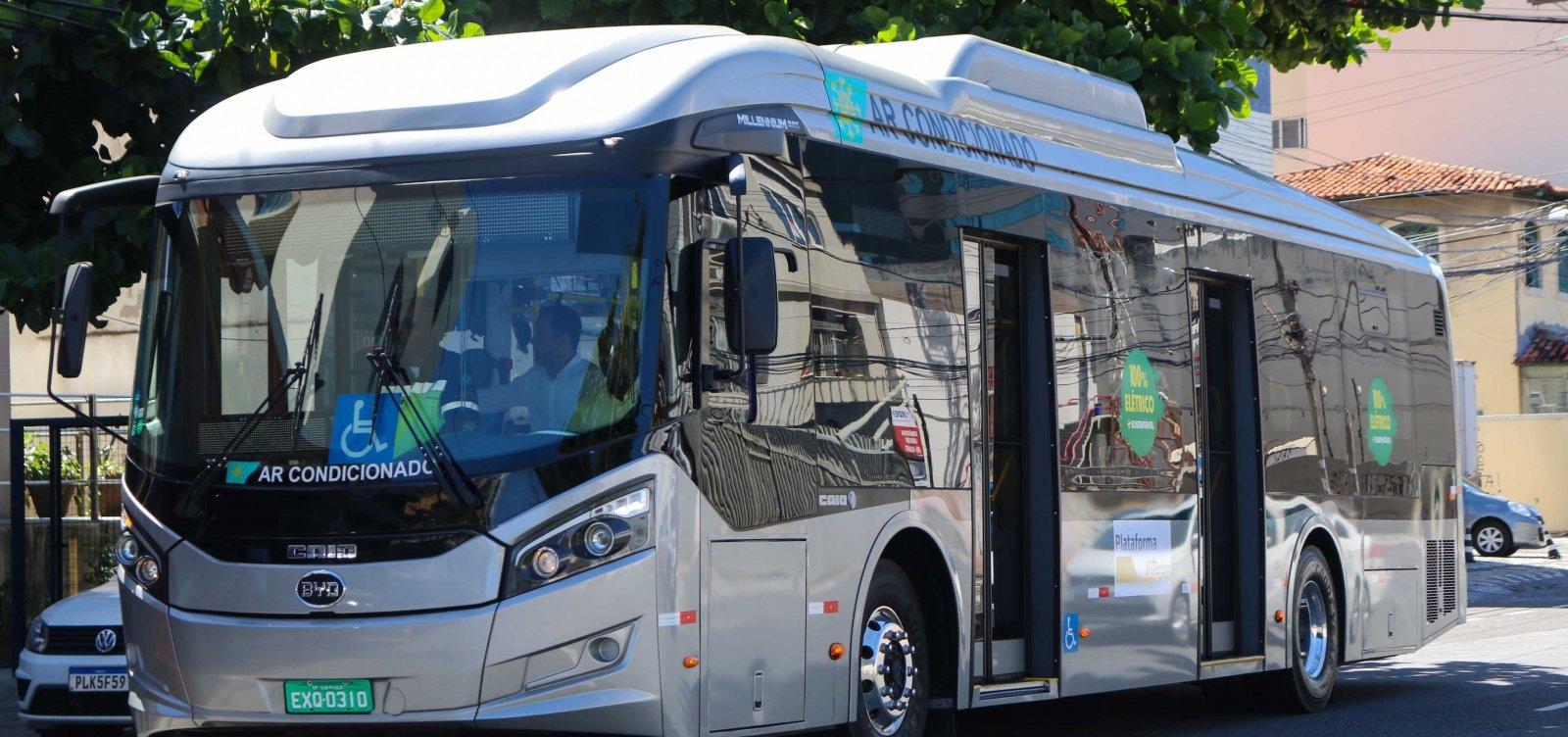 [Ônibus 100% elétrico será testado em linhas de transporte a partir dessa terça-feira (16)]