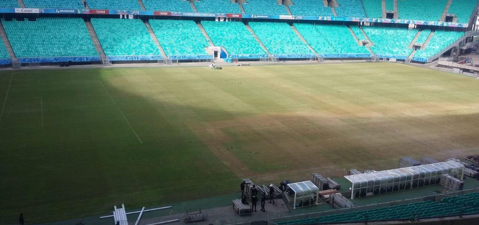 [Após show, consórcio promete Fonte Nova com gramado em condições para jogo do Bahia]