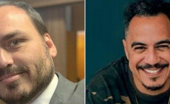 ['Quando a merd* estourar, a familícia vai te dedurar', Marcelo D2 irrita Carlos Bolsonaro]